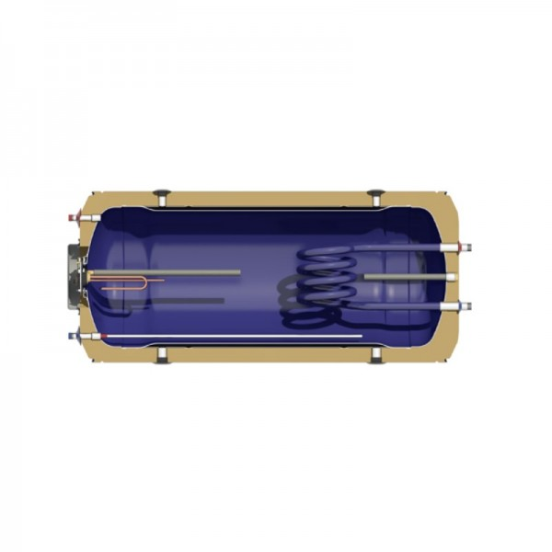 Nobel Aelios 160/2.6m2 (ALS) Glass Διπλής Ενεργείας Κεραμοσκεπής Ηλιακός θερμοσίφωνας