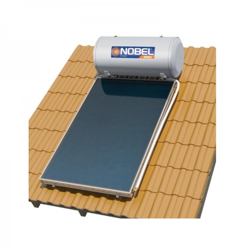 Nobel Aelios 120/2m2 (CUS) Glass Διπλής Ενεργείας Κεραμοσκεπής Ηλιακός θερμοσίφωνας