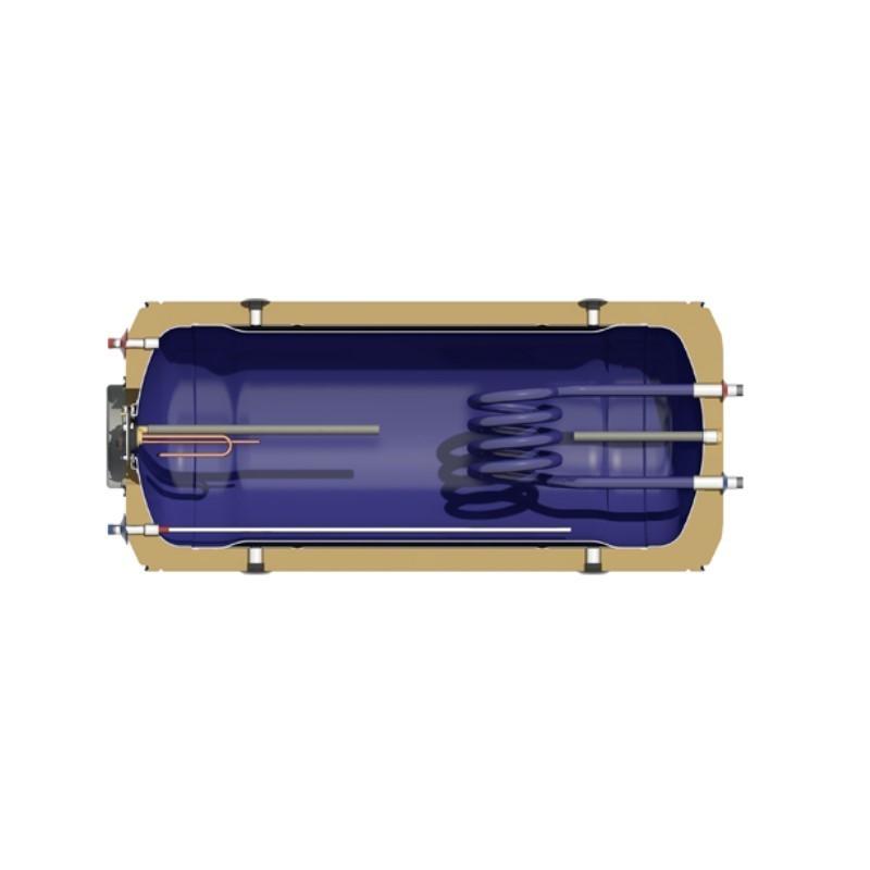 Nobel Aelios 200/4m2 (CUS) Glass Διπλής Ενεργείας Κεραμοσκεπής Ηλιακός θερμοσίφωνας