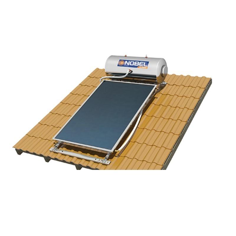Nobel Classic 200/2,6m2 Glass Διπλής Ενεργείας Κεραμοσκεπής Ηλιακός θερμοσίφωνας