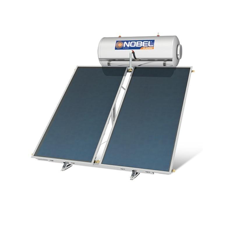 Nobel Classic 300/4m2 Inox Τριπλής Ενεργείας Ηλιακός θερμοσίφωνας