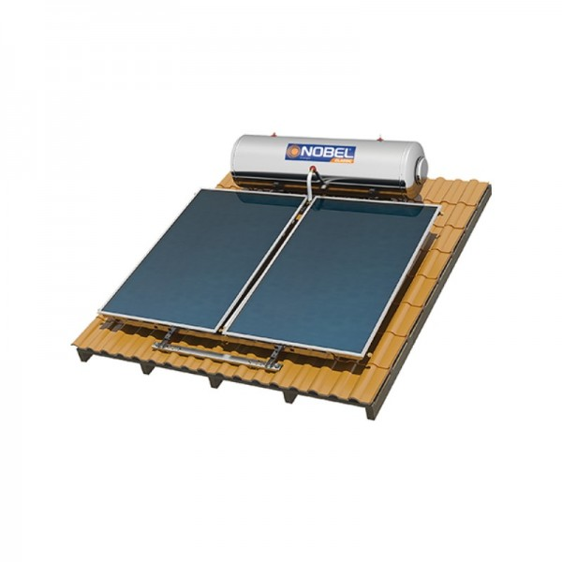 Nobel Classic 200/4m2 Inox Τριπλής Ενεργείας Κεραμοσκεπής Ηλιακός θερμοσίφωνας