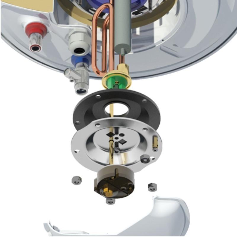 Nobel 20lt Οριζόντιος Με Αντίσταση Αριστερά Ηλεκτρικός Θερμοσίφωνας