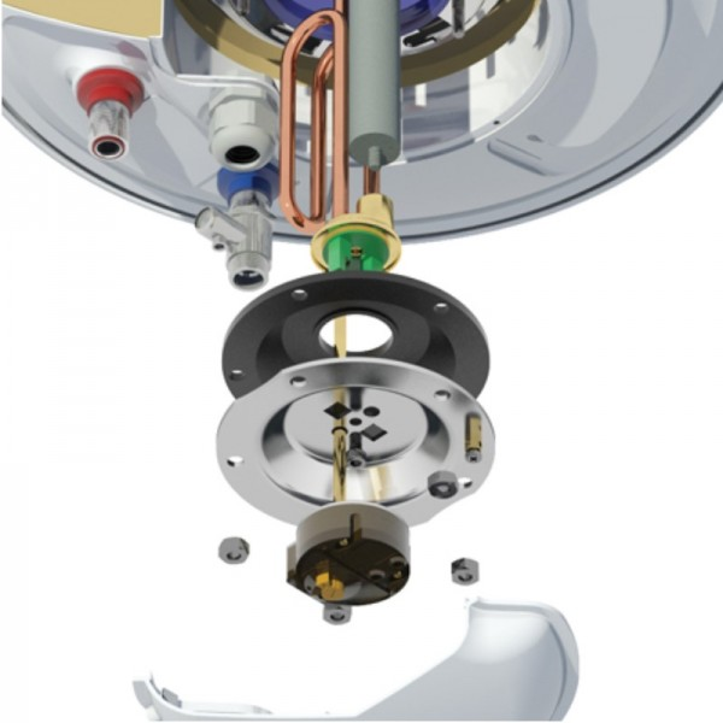 Nobel 100lt Οριζόντιος 36εκ με Αντίσταση Αριστερά Ηλεκτρικός Θερμοσίφωνας