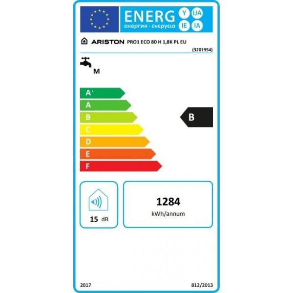 Ariston PRO1 ECO 80 H 1,8K PL EU Οριζόντιος Ηλεκτρικός Θερμοσίφωνας