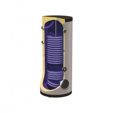 Nobel FC HP 500Lt Glass με 2 Εναλλάκτες Μπόιλερ Λεβητοστασίου για Αντλία Θερμότητας